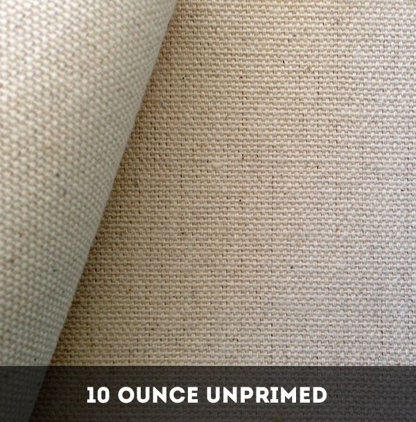 10 Ounce Unprimed Cotton Duck Canvas - 25 Metres