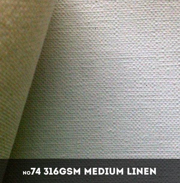 Belle Arti #74U - Extra Fine 316gsm Double Primed Linen - 216cm x 10m