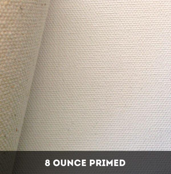 8 Ounce Double Primed Cotton Duck Canvas - 25 Metres