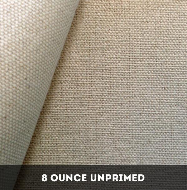 8 Ounce Unprimed Cotton Duck Canvas - 25 Metres