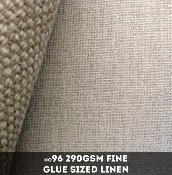 Belle Arti #96 - Fine 290gsm Glue Sized Loomstate Linen - 215cm x 10m