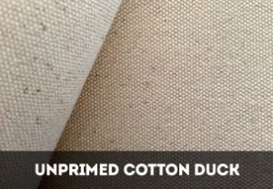 Unprimed Cotton Duck Canvas Rolls